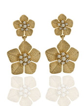 Garden of Love Gold Flower Drop Earrings