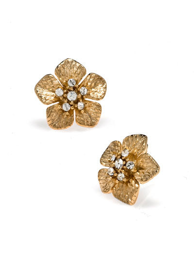 Garden of Love Gold Small Flower Earrings