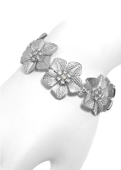 Garden of Love Silver Flower Bracelet