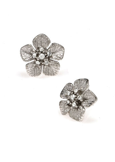 Garden of Love Silver Small Flower Earrings