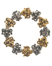 Gargoyles Gold and Silver Tone Stretch Bracelet