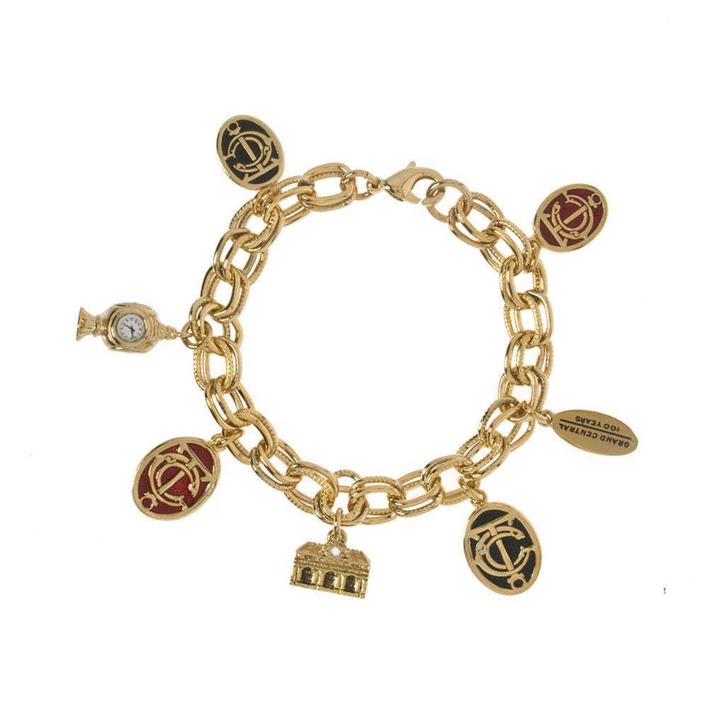Grand Central Goldtone Multi-Charm Bracelet