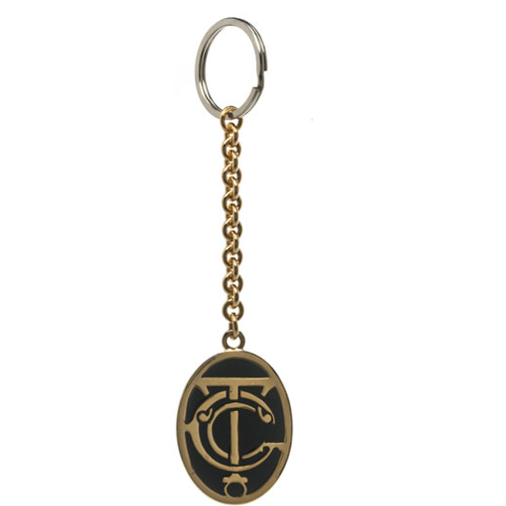 Grand Central Black Goldtone Keyring