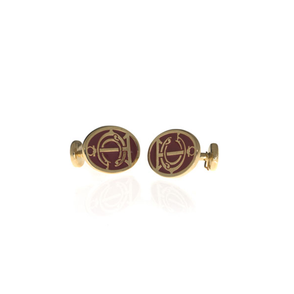 Grand Central Red Goldtone Cufflinks