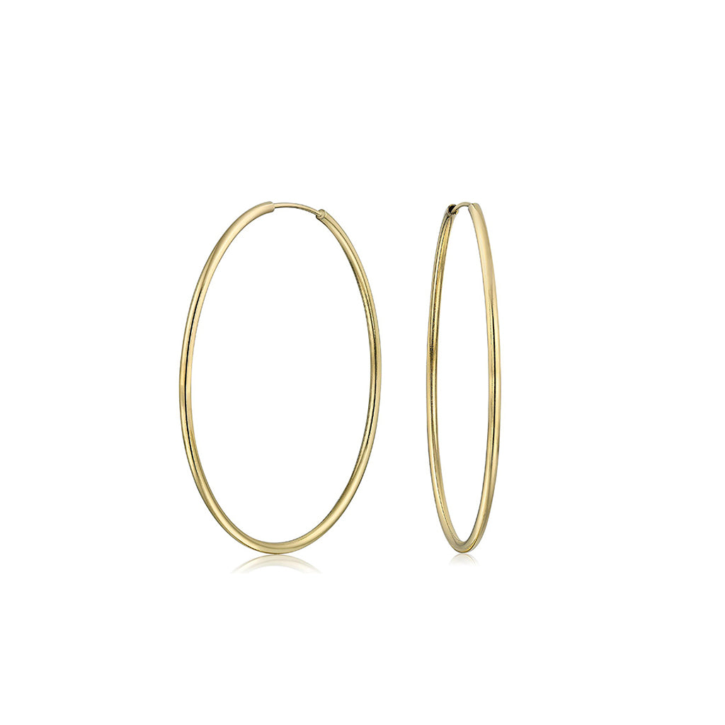 14k Gold Filled Hoops 5/8 inch Diameter
