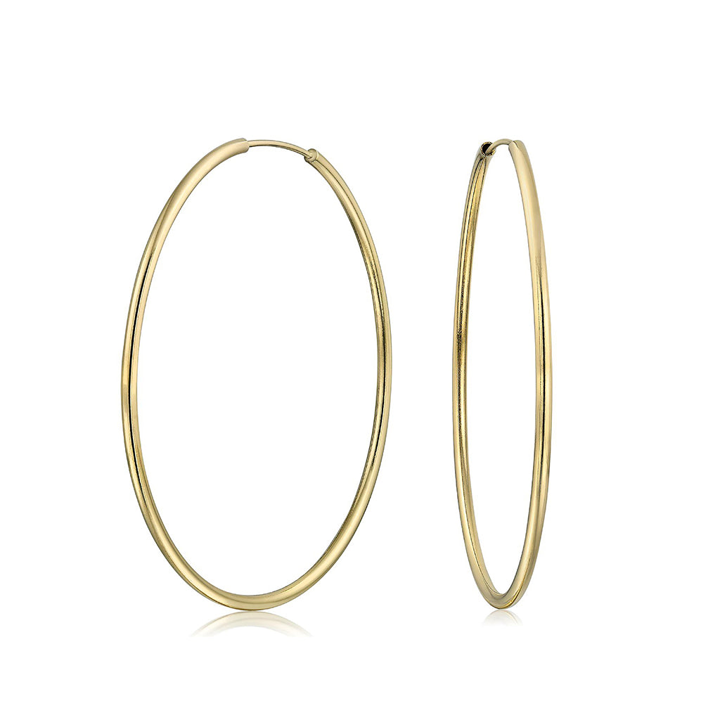 14k Gold Filled Hoops 1-1/16 inch Diameter