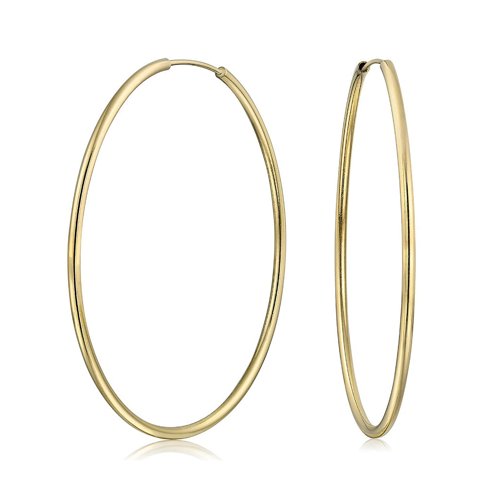 14k Gold Filled Hoops 1-3/8 inch Diameter