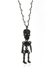 Hematite Skeleton Pendant Necklace