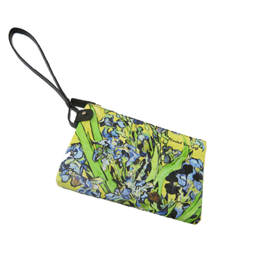 Van Gogh Irises Clutch Bag