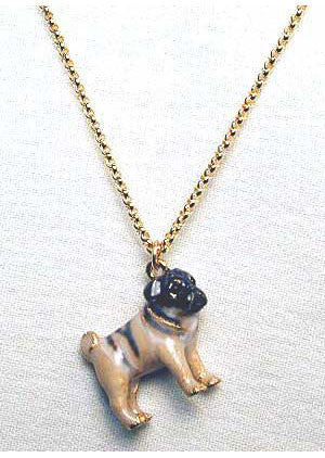 Ivory Pug Adorable Pooch ® Necklace