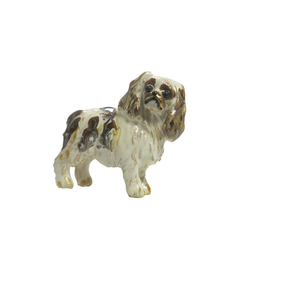 Brown/White King Charles Adorable Pooch ® Pin
