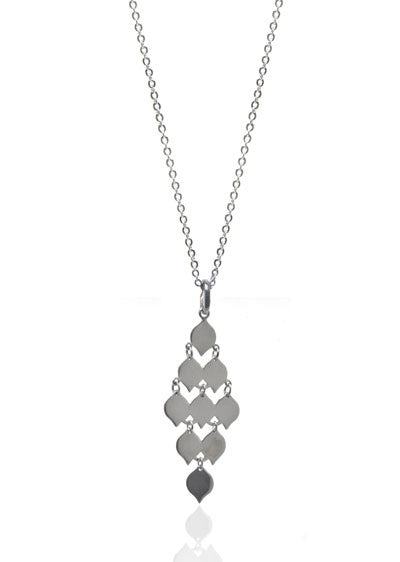 Linked Diamonds Pendant Necklace