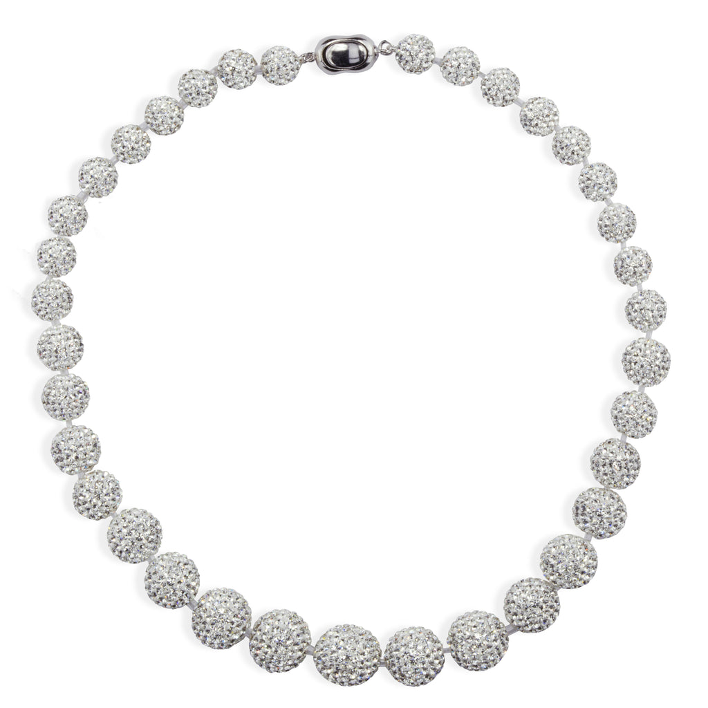 Graduated Crystal Ball Collar Necklace