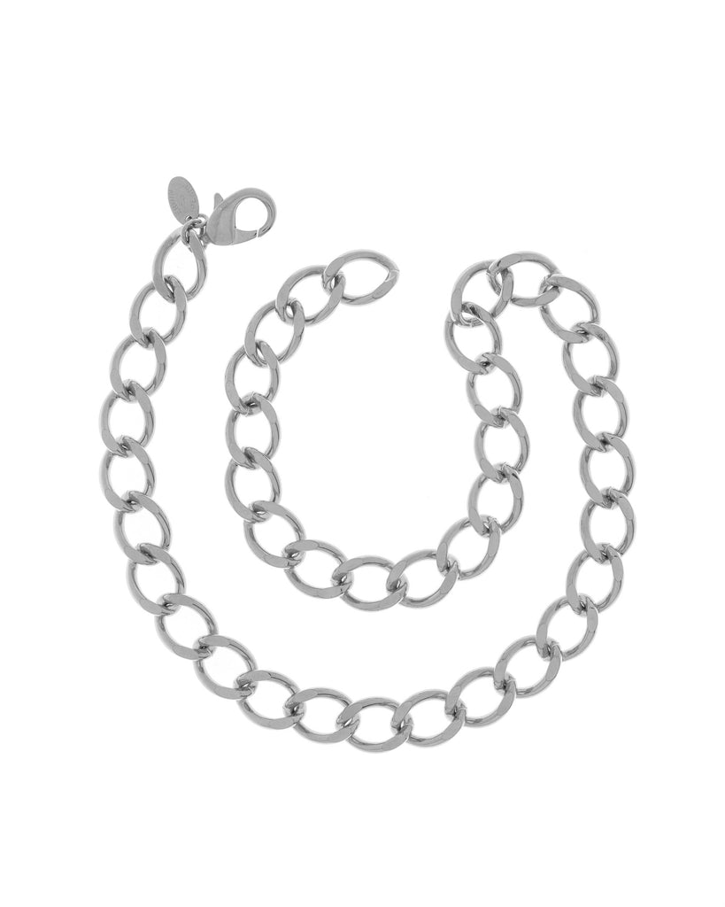 Rhodium Plated Steel Chain