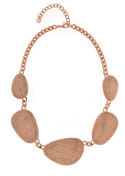 Stardust Large Rose Multi Discs Collar Necklace