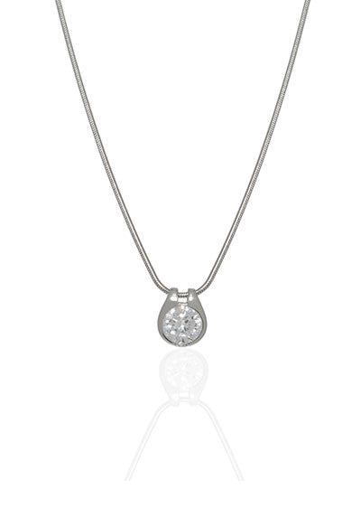 Sterling Silver Wish Bone Necklace