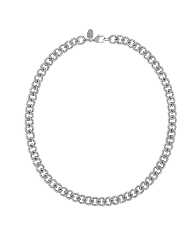 Rhodium Plated Brass Curb Chain