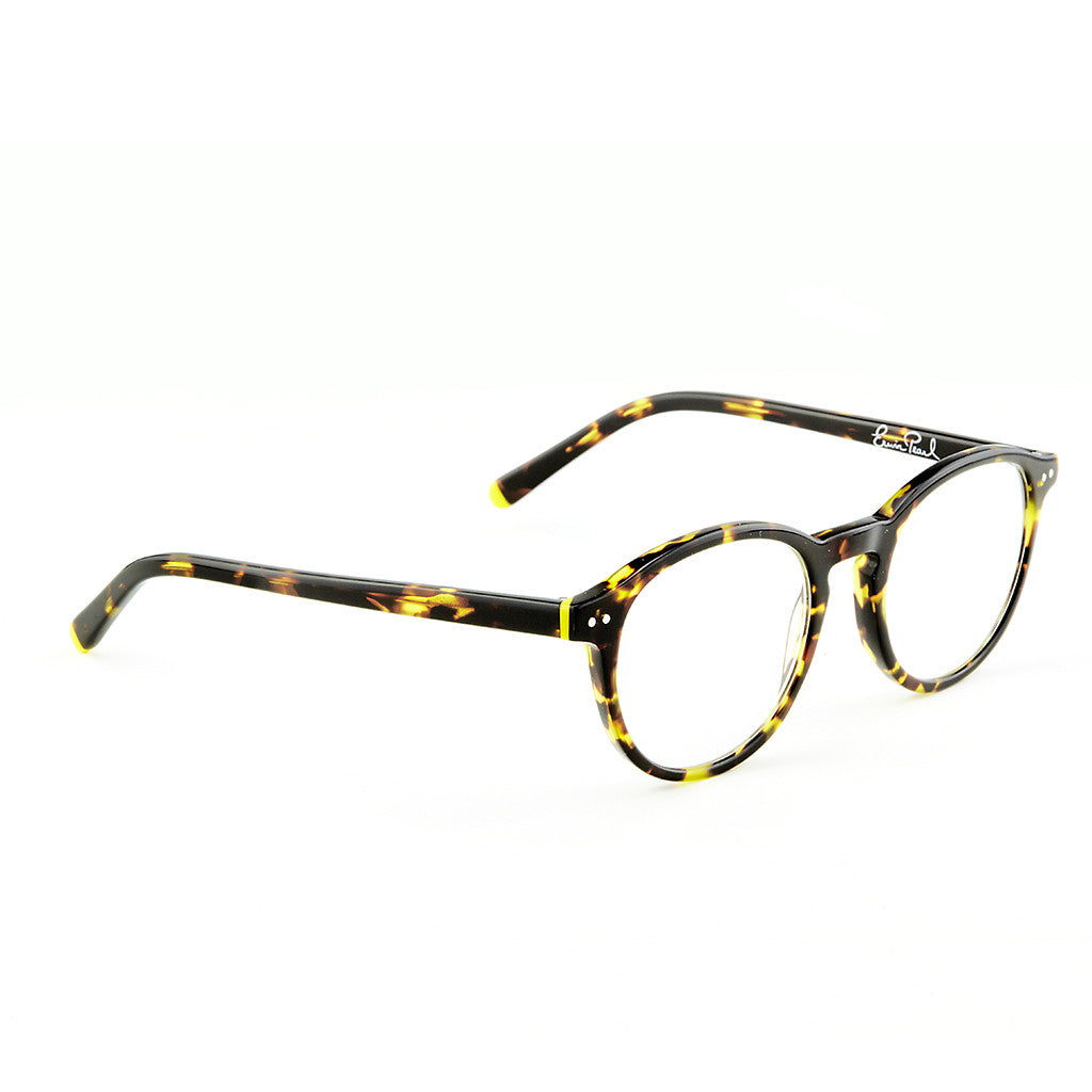 Round Frame Brown Tortoise Reader