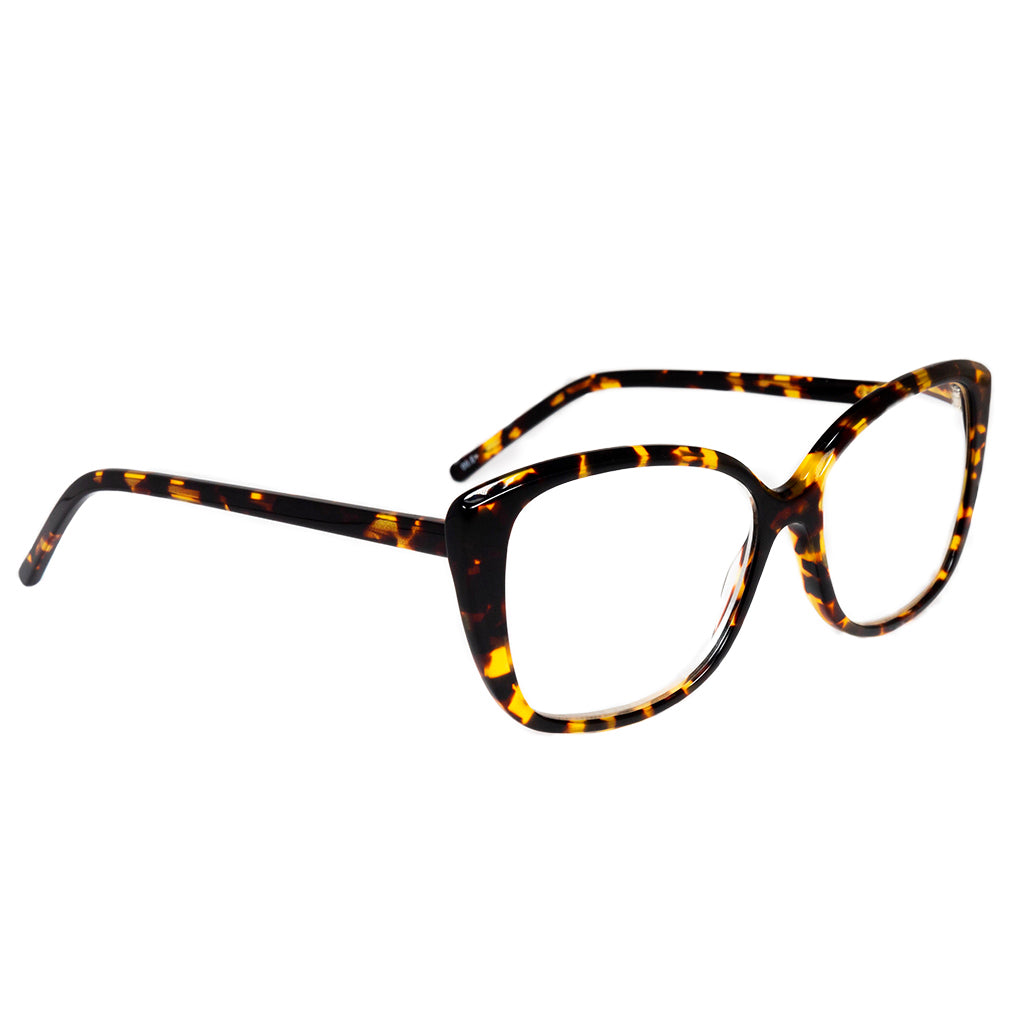 Rectangle Frame Brown Tortoise Readers