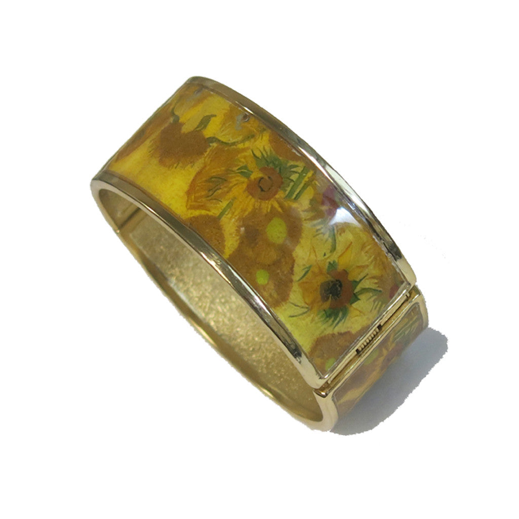 Van Gogh Sunflowers Hinged Bracelet