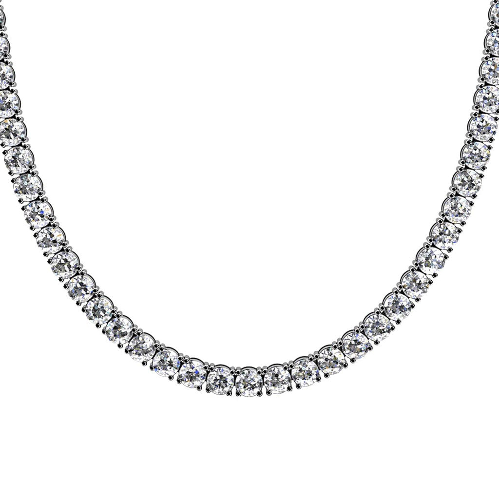 Sterling Silver Prong Set Necklace