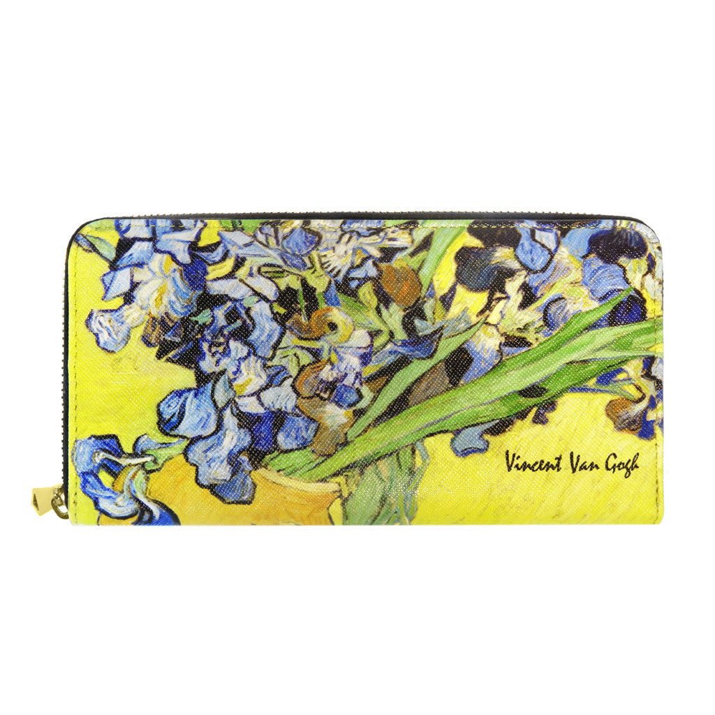 Van Gogh Irises Zip Around Wallet