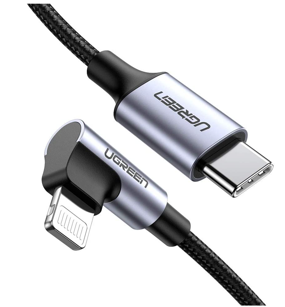 UGreen (MFi) Right Angled 2m Lightning to USB-C Cable