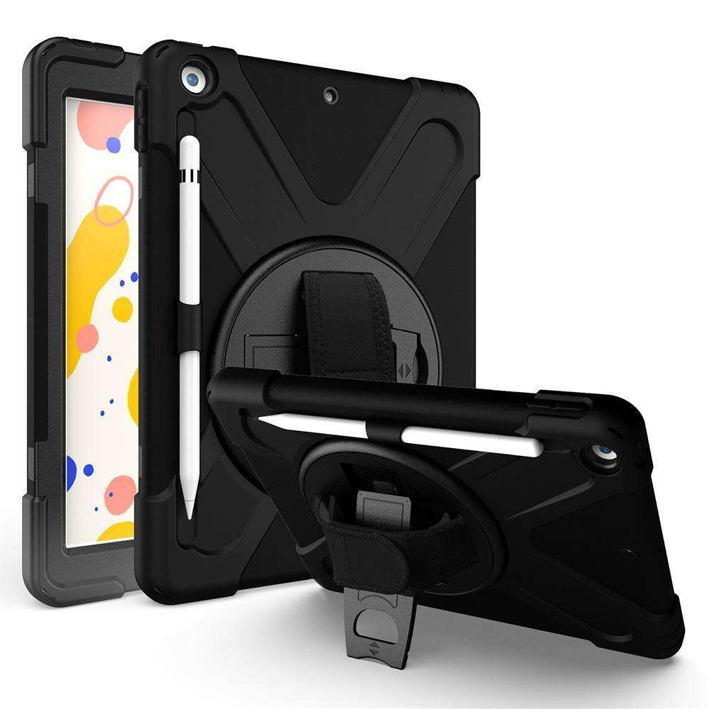 iPad 10.2 Shoulder and Hand Strap Case with Built-In Screen Protector