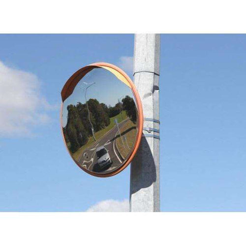 Outdoor Stainless Steel Deluxe Convex Mirror