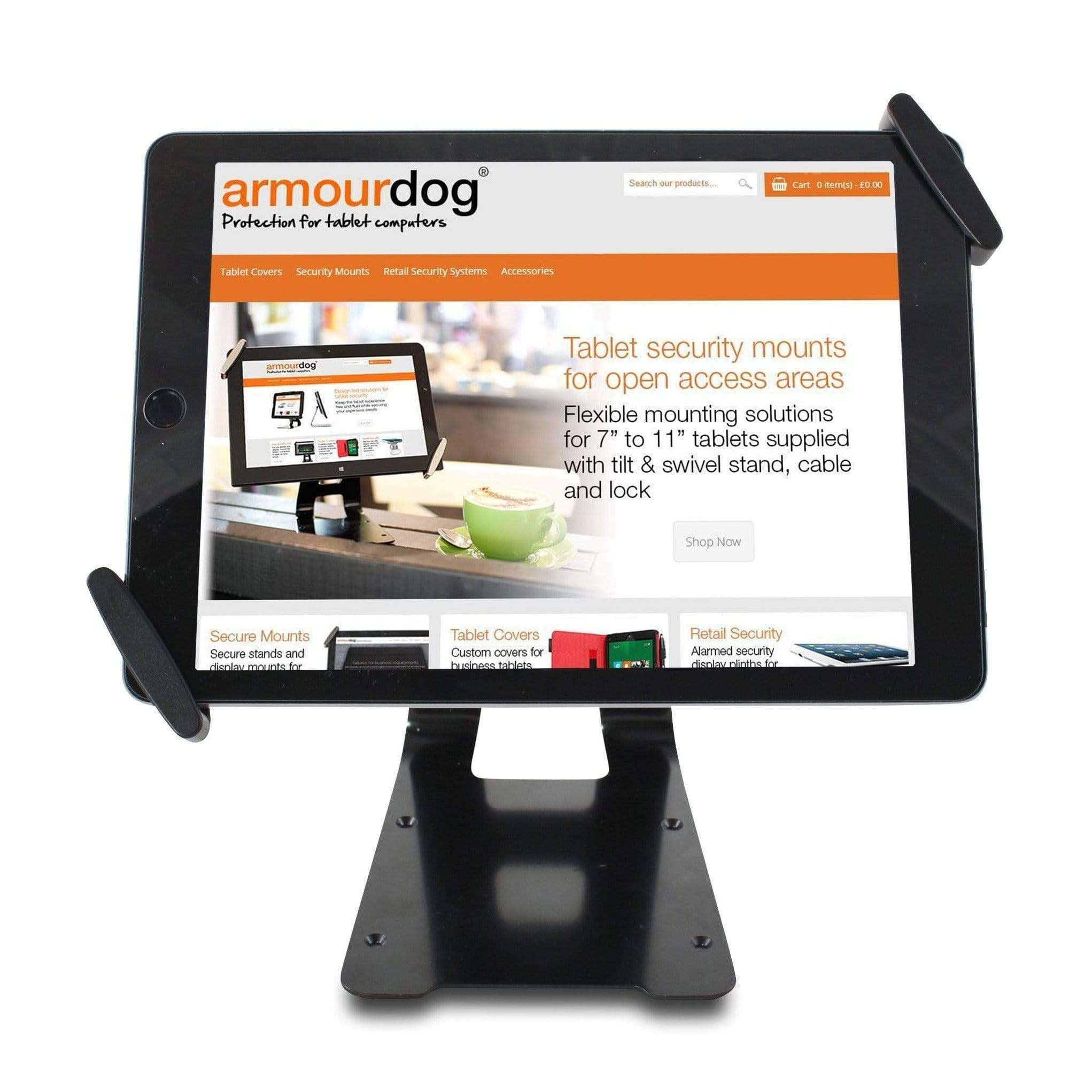 Secured Universal Tablet Holder for 10 to 13 iPads & Tablets
