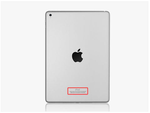 iPad's serial number is placed at the back of the tablet