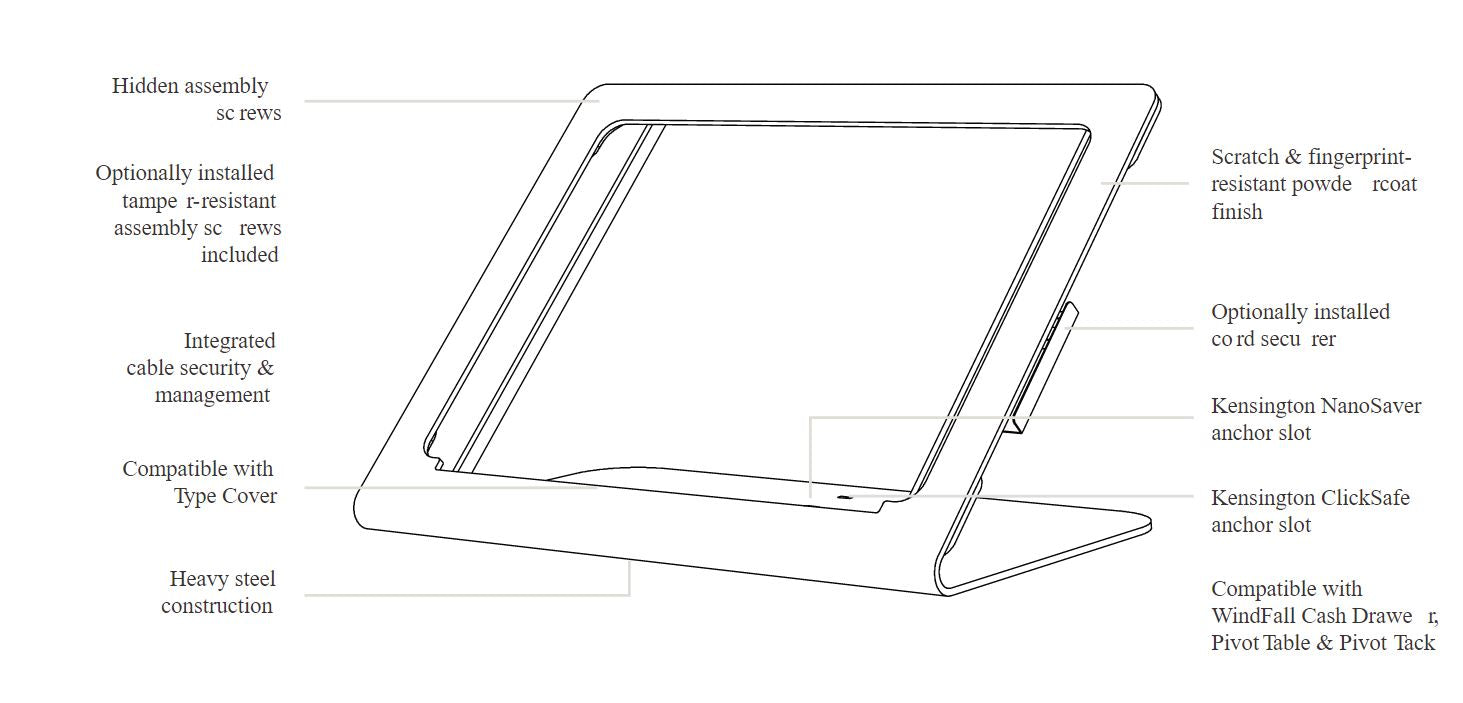Heckler Windfall Stand for Surface Go components