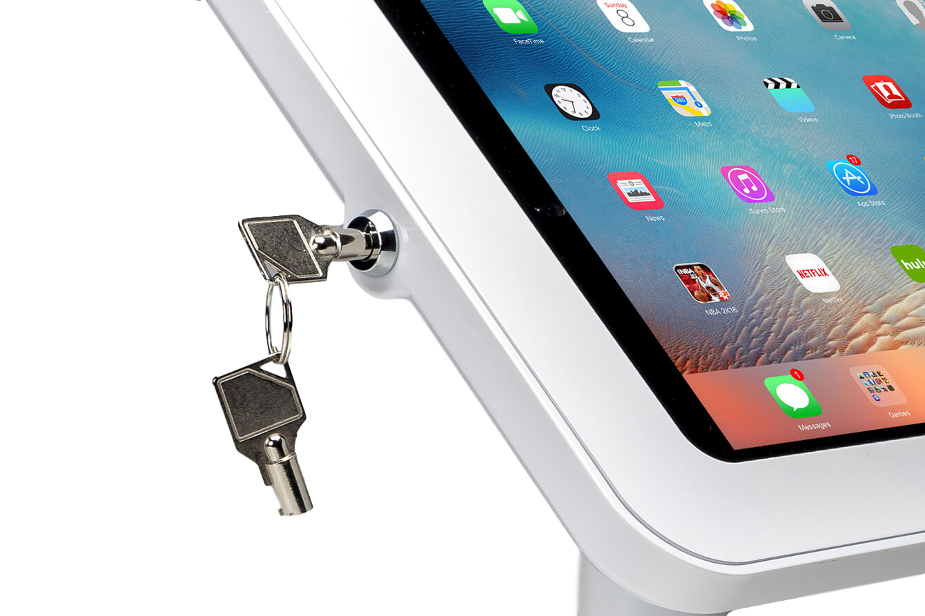 Tab Secure Floor Stand for iPads and Tablets is lockable