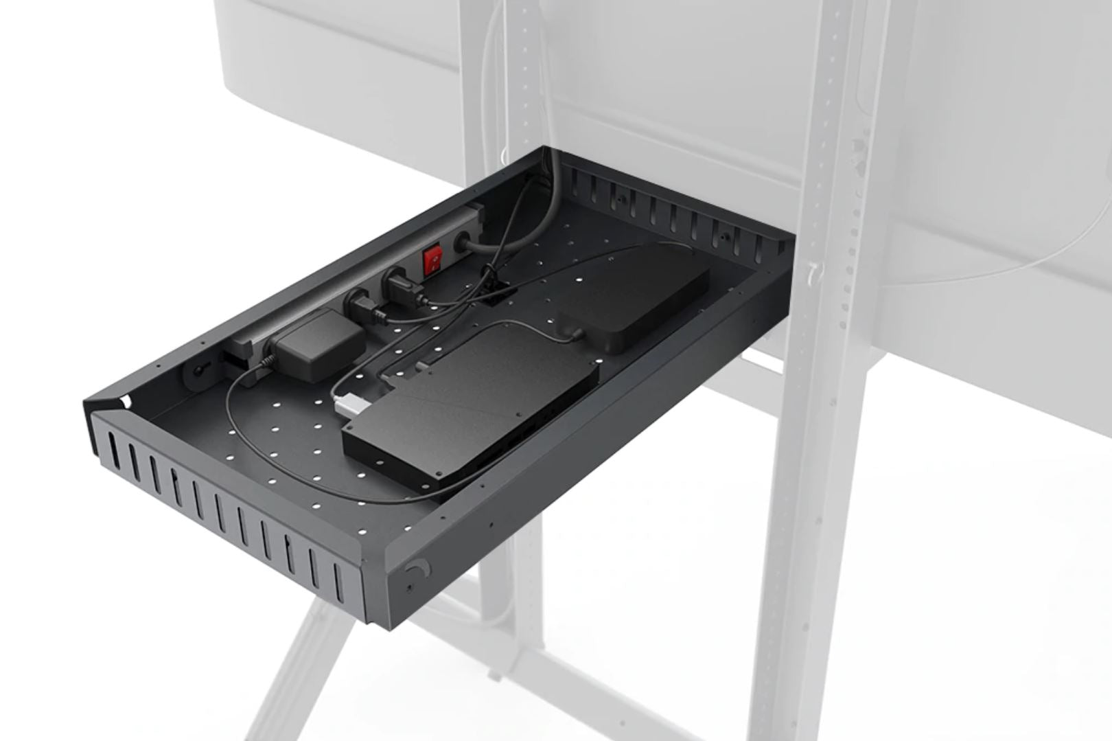 Big Compartment for AV Heckler Cart can be pre configured