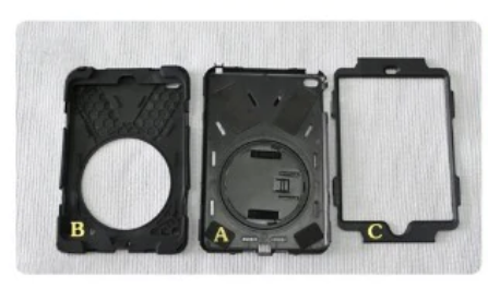 All three part of Galaxy Tab A 10.5 case are separated