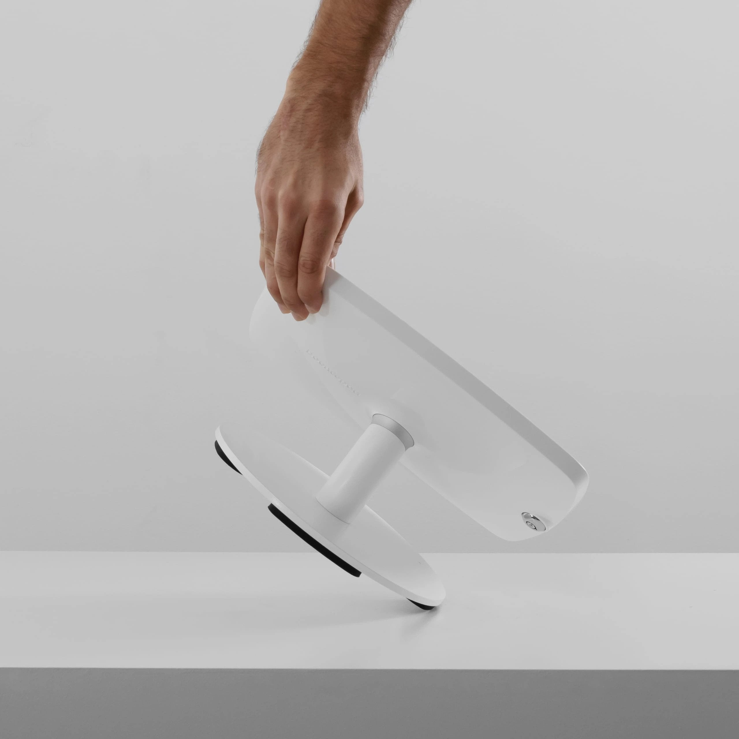 The Counter Mount. white colour, front view
