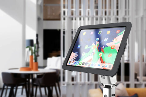 Heckler Windfall VESA Mount for iPad Pro 12.9, black color, front view