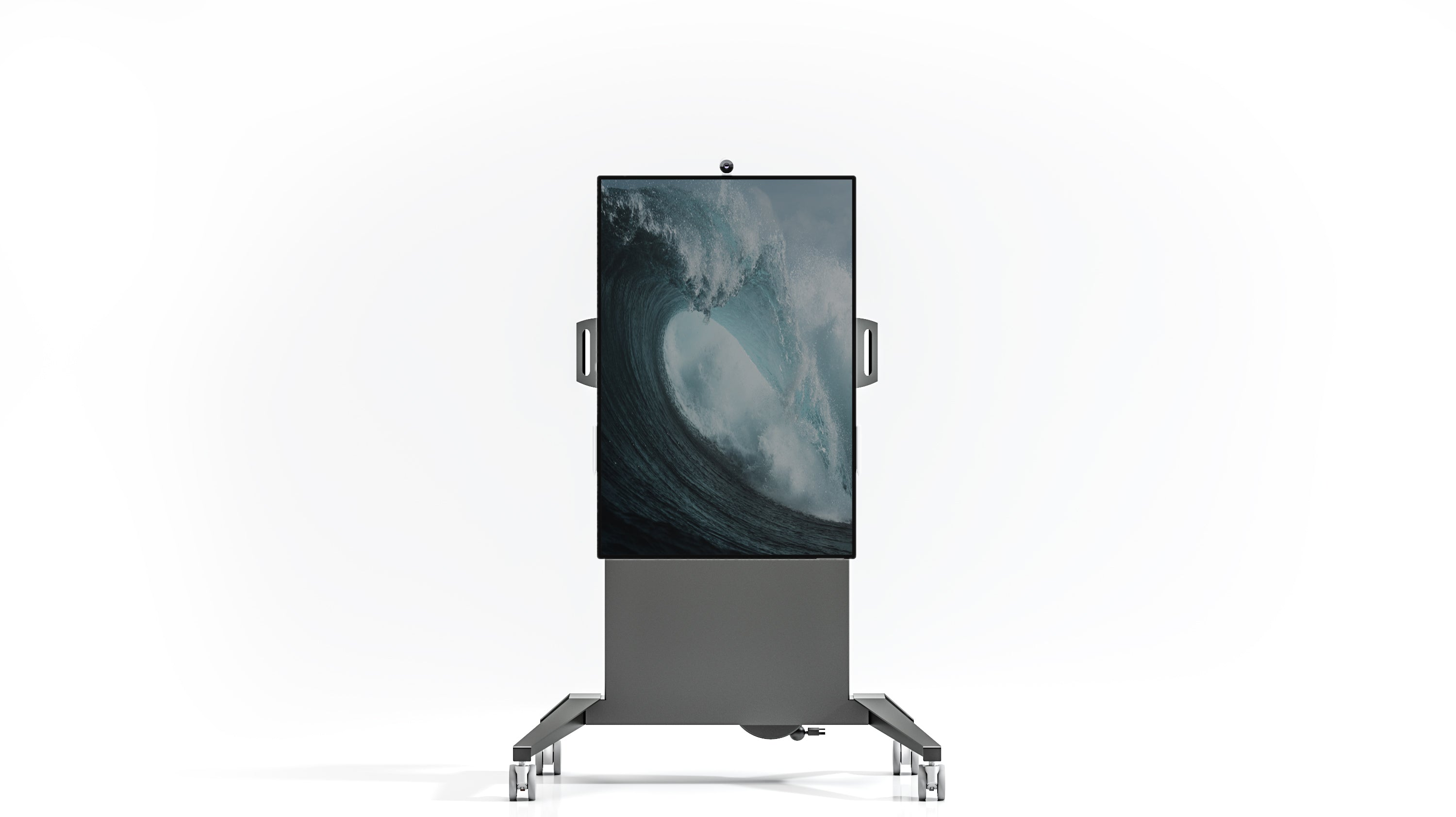 Fixed Height Mobile Cart for Microsoft Surface Hub 2s