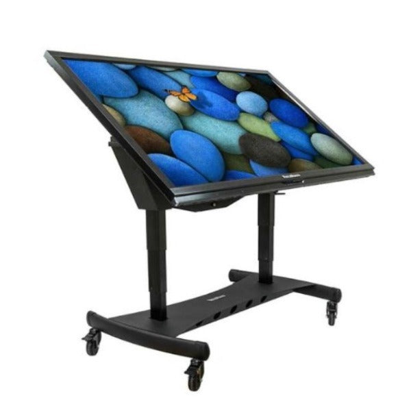 mobile electric lift carts for interactive screens