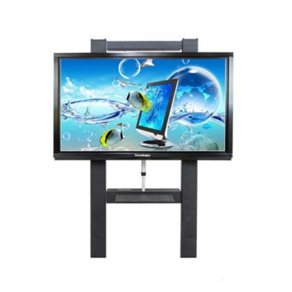 Adjustable electric lift wall stands for interactive displays