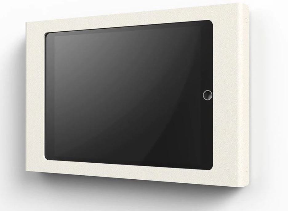 Heckler Wall Mount for iPad 10.2, white color, front view