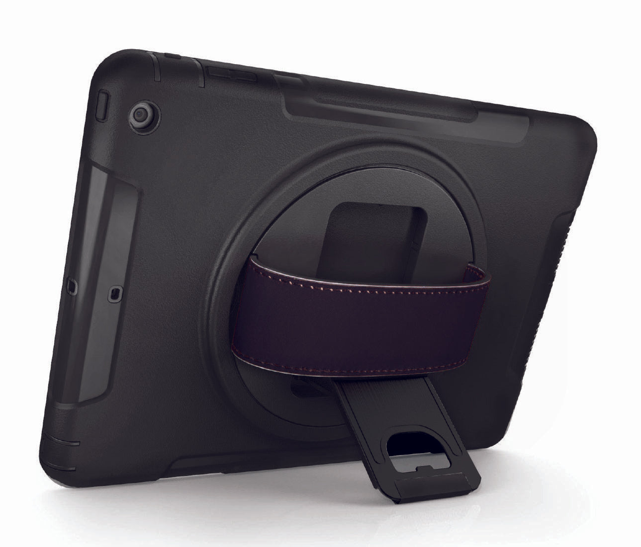 "Kick Stand allows to operate with the case in a ""hands-free"" mode"