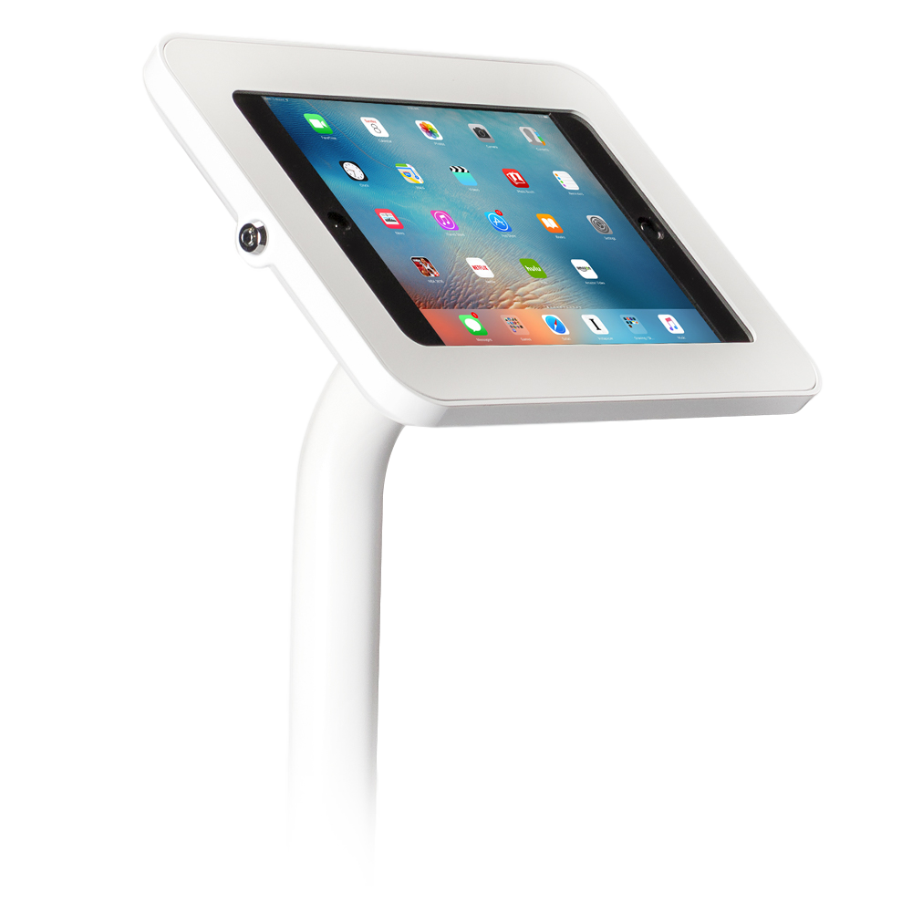 Tab Secure Floor Stand for iPads and Tablets, white color