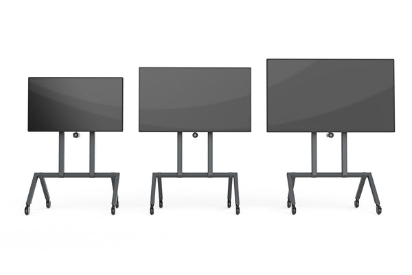 Heckler AV Cart, three units, 3 sizes of screens