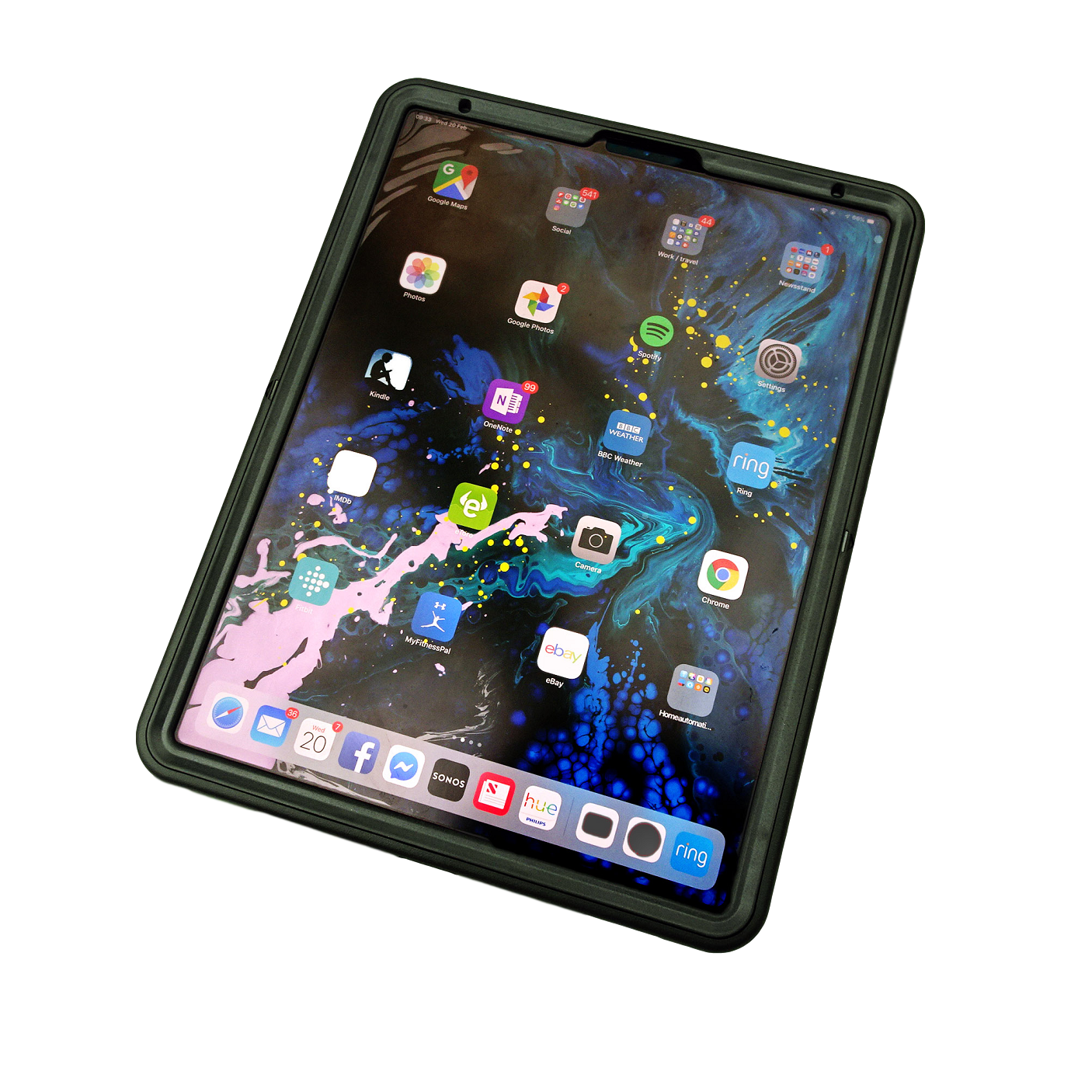 Schockproof case for iPad Pro , front view