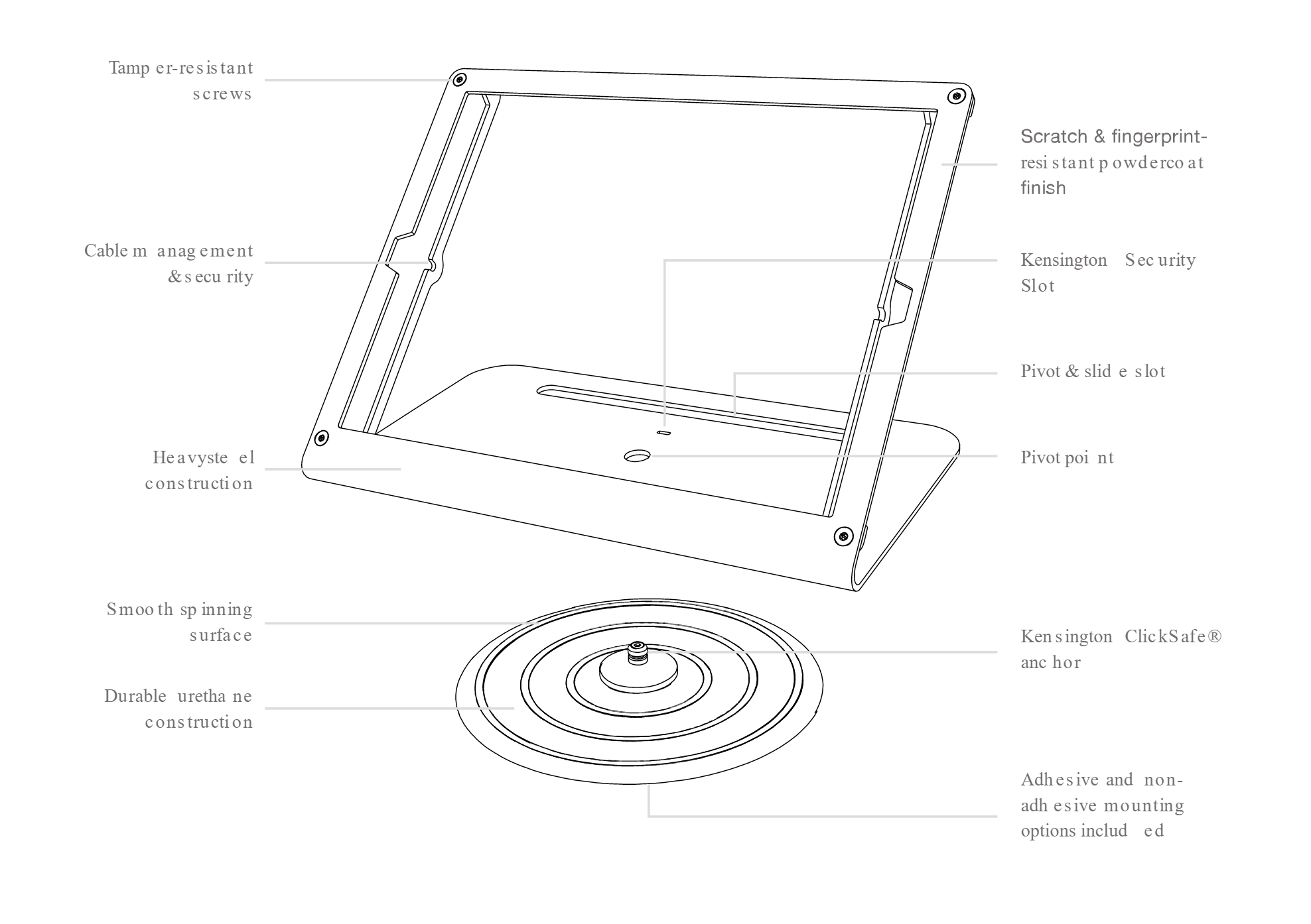 Heckler Windfall with Pivot Table for Surface 4/5/6 components