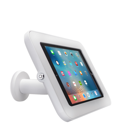 Tab Secure Wall Mount for iPad Pro 12.9, white color, front view