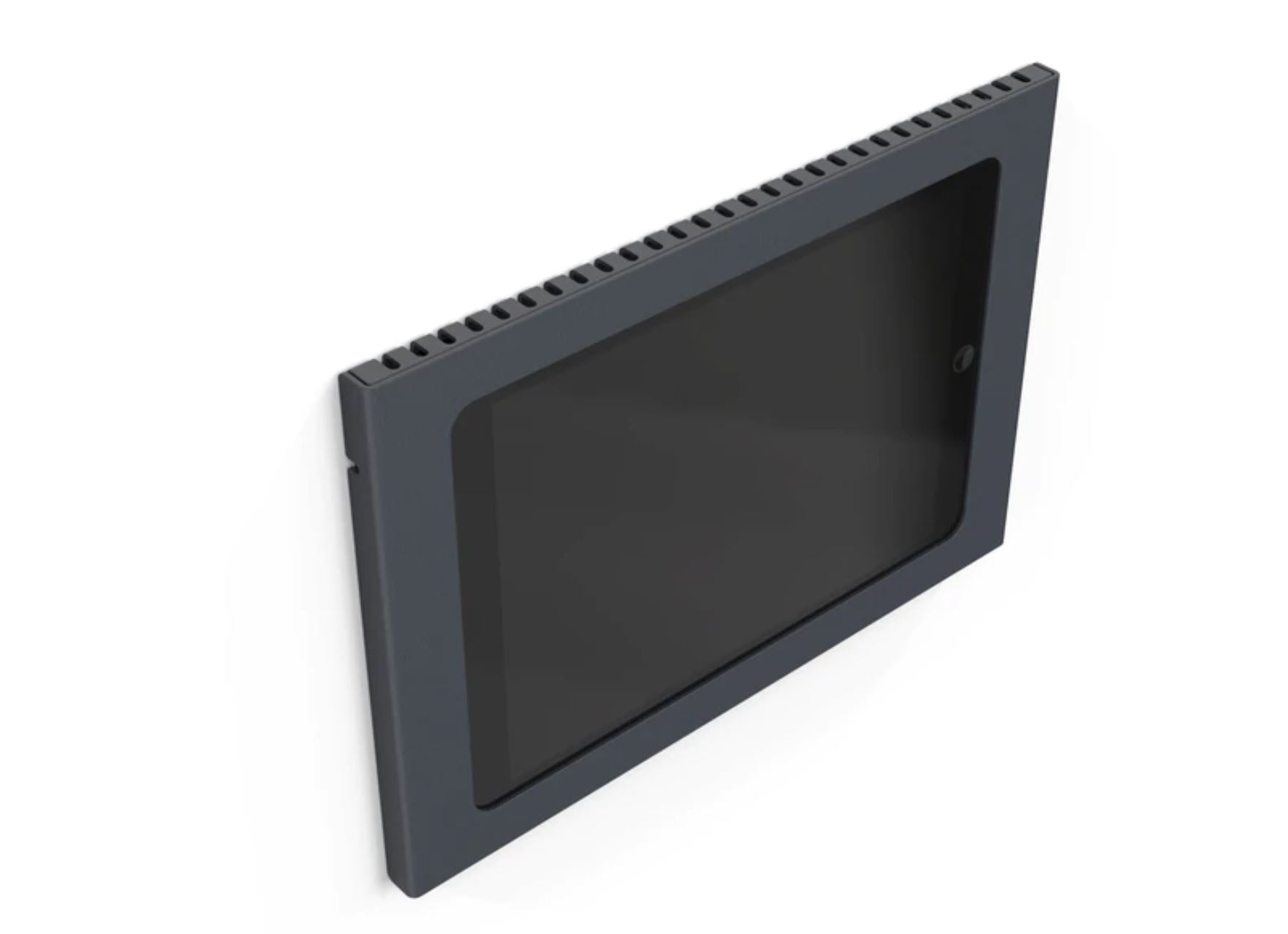 Heckler Wall Mount for iPad Mini, black color, front view