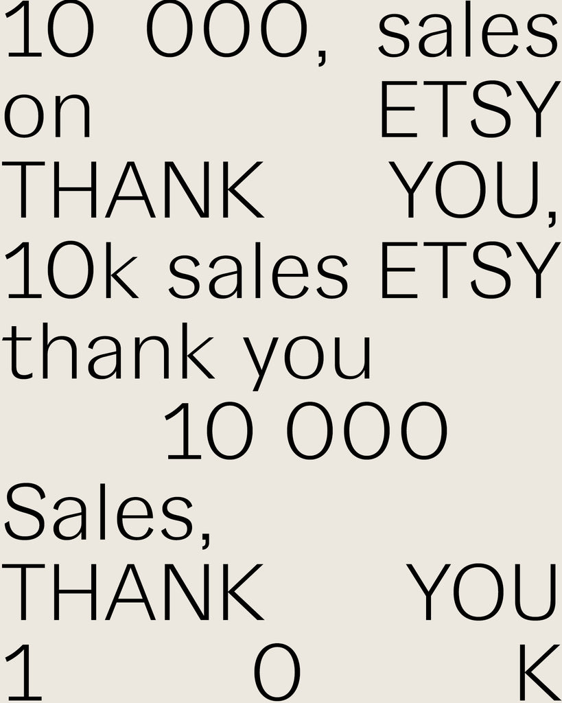 10k Sales on Etsy