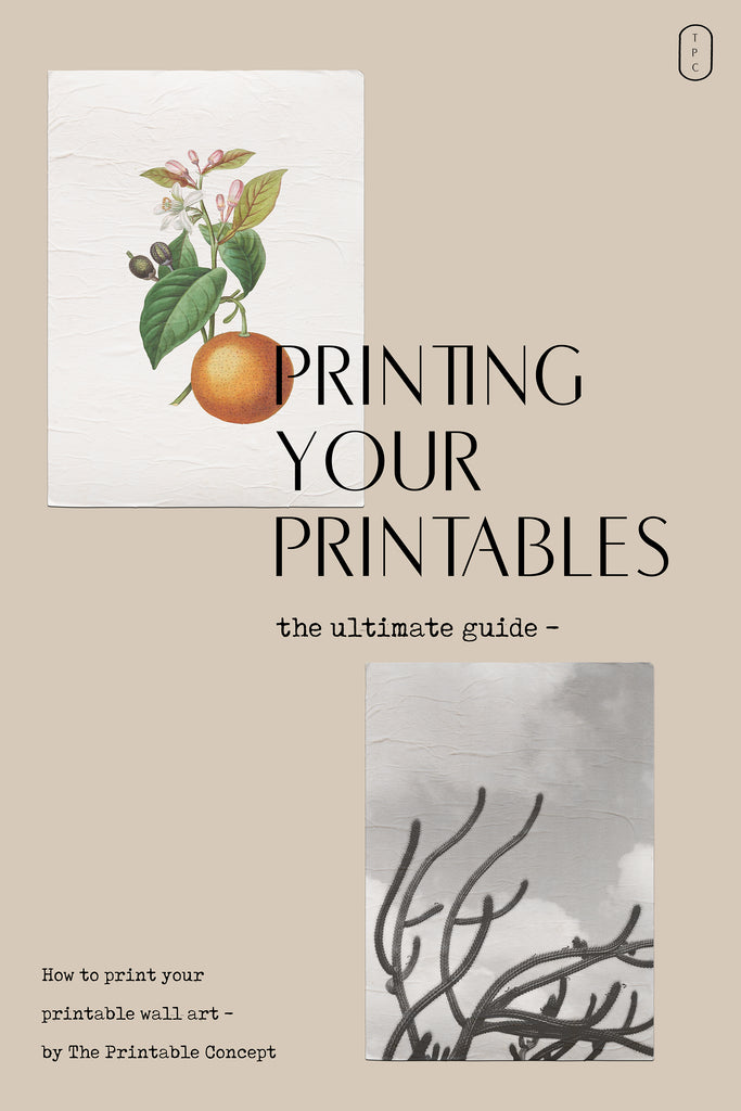 Guide | Printing your Printables